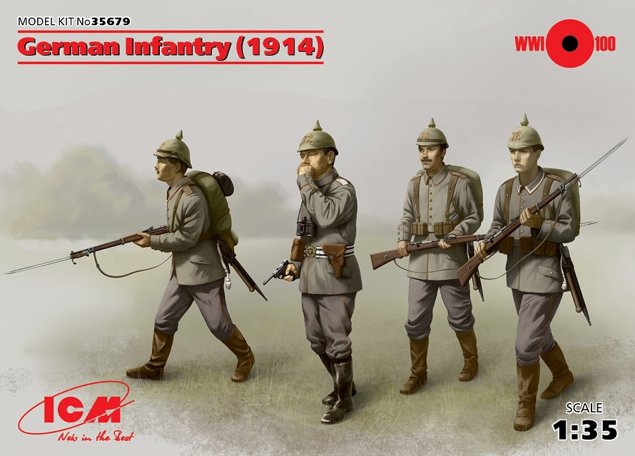 ICM 35679 WWI German Infantry (1914) 1:35