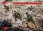 ICM 35704 US Infantry in Gas Masks (1918) 1:35