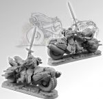 Scibor miniatures 28SF0084 SF knight Motorcycle