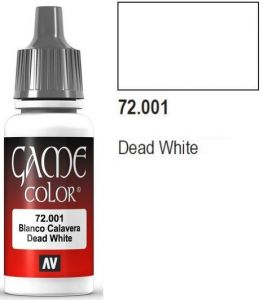 Vallejo Game Color 72001 - Dead White 17ml.