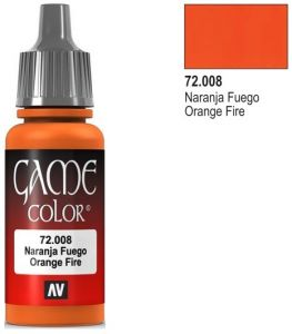 Vallejo Game Color 72008 - Orange Fire 17ml.