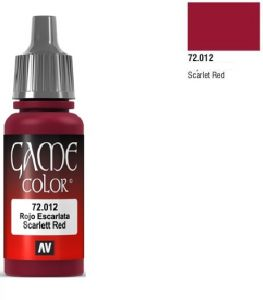 Vallejo Game Color 72012 - Scarlet Red 17ml.