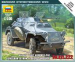 Zvezda 6157 Armored Car Sd.Kfz 222 1:100 Art of Tactic