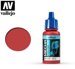 Vallejo Mecha Color 69008 Red 17ml - Farba do aerografu