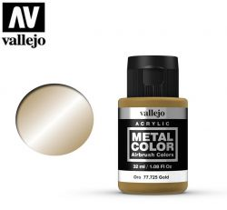 Vallejo Metal Color 77725 Gold 32ml - Metalizer do aerografu