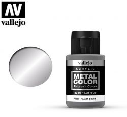 Vallejo Metal Color 77724 Silver 32ml - Metalizer do aerografu