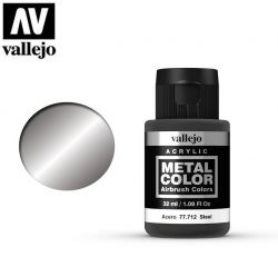 Vallejo Metal Color 77712 Steel 32ml - Metalizer do aerografu
