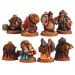 Scibor 28FM0007 Dwarf Adventurers [4szt] 28mm