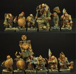 Scibor 28FM0146 Dwarves Ducal Guard (12szt) 28mm - Krasnolud