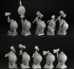 Scibor 28FM0364 Dwarves Elite Guard [10szt.] 28mm