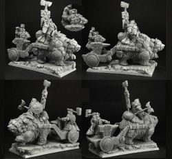 Scibor 28FM0365 Dwarven Chariot with Anvil 28mm
