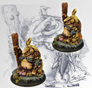 Scibor 28FM0008 Uglyn Lovelord 28mm - Goblin