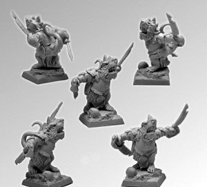 Scibor 28FM0144 Rat Warrior #2 28mm - Skaven