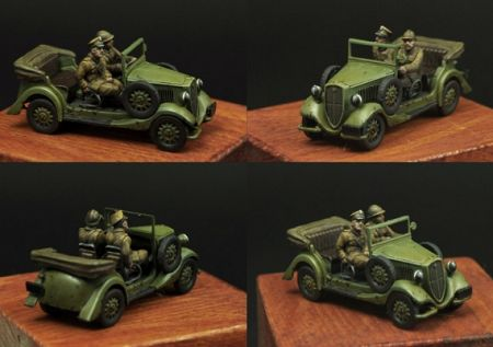 Scibor 72HM0017 - Polish Crew and roof for Fiat 508 (1:72)
