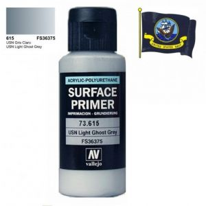 Vallejo 73615 - Surface Primer USN Light Ghost Grey (FS36375). 60ml