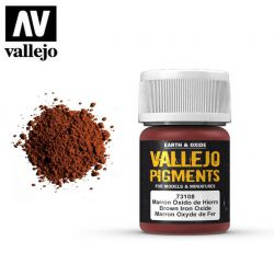 Vallejo Pigments 73108 Brown Iron Oxide 35ml