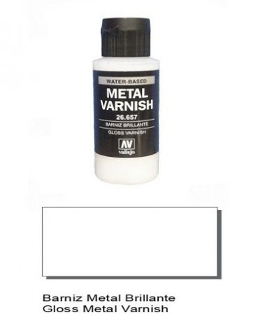 Vallejo 26657 - Gloss Metal Varnish 60ml