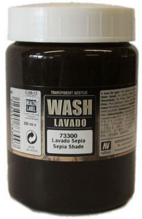 Vallejo 73300 - Sepia Shade Wash. 200ml.
