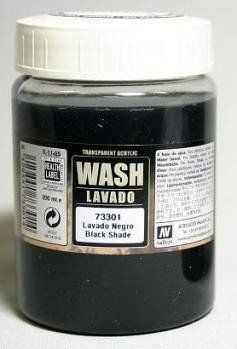 Vallejo 73301 - Black Shade Wash. 200ml.