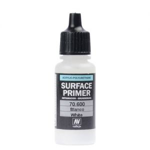 Vallejo 70600 Surface Primer White. 17ml