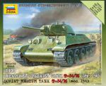 Zvezda 6101 Soviet Medium Tank T-34/76 1:100 Art of tactic