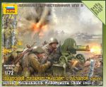 Zvezda 6104 Soviet Machinegun Maxim w/Crew [1941-43] 1:72 Art of Tactic