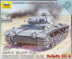 Zvezda 6119 German Medium Tank PzKpfw III Ausf.G 1:100 Art of Tactic