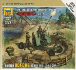 Zvezda 6170 British BOFORS 40mm Mk-I/2 AA-Gun 1:72 Art of Tactic