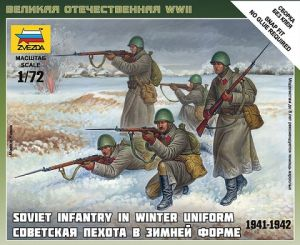 Zvezda 6197 - Soviet Infantry [winter uniform, 1941-42] 1:72