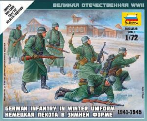 Zvezda 6198 - German Infantry [winter uniform, 1941-45] 1:72