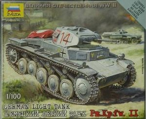 Zvezda 6102 - German Light Tank PzKpfw II 1:100
