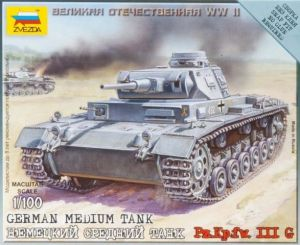 Zvezda 6119 German Medium Tank PzKpfw III Ausf.G 1:100