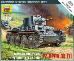 Zvezda 6130 - German Light Tank PzKpfw 38(t) 1:100