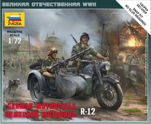 Zvezda 6142 German Motorcycle R-12 1:72 Art of Tactic