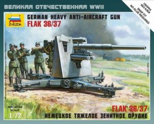 Zvezda 6158 - Anti-Aicraft Gun 88mm FlaK 36/37 1:72