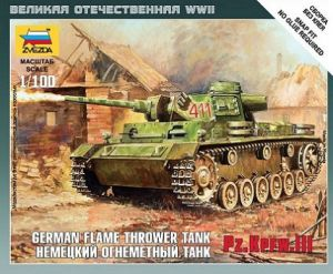 Zvezda 6162 - PzKpfw III Flamethrower Tank 1:100