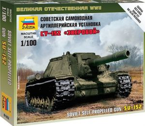 Zvezda 6182 - Soviet Self Propelled Gun SU-152 1:100