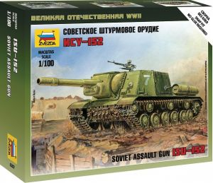Zvezda 6207 - Soviet Self-Propelled Gun ISU-152 1:100