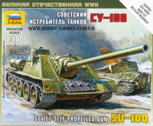 Zvezda 6211 Self-Propeled Gun Su-100 1:100 Art of Tactic