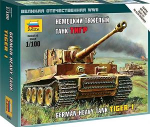 Zvezda 6256 PzKpfw VI Tiger I 1:100 Art of Tactic