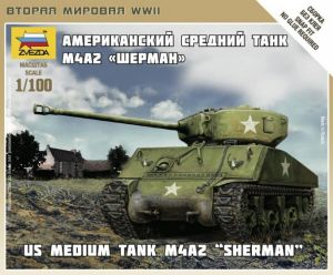 Zvezda 6263 Sherman M4A2 1:100 Art of Tactic