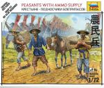 Zvezda 6415 Peasants with Ammo Supply 1:72 Art of Tactic