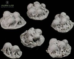 Alien Lab Miniatures BK013 Spider Eggs 28mm - Pajęcze jaja