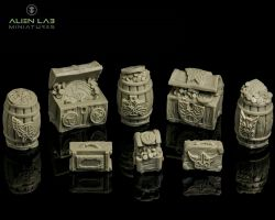 Alien Lab Miniatures CPDT001 Dwarven Treasure set [8szt] 28mm - Krasnoludzkie skarby