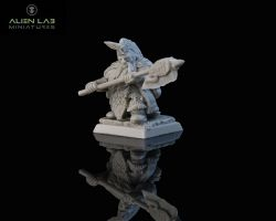 ALien Lab Miniatures FD005 Dwarf Dragon Hunter Lord 28mm - Krasnolud