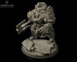 Alien Lab Miniatures Jarl Alvor War-Bear 28mm