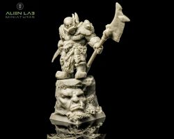 Alien Lab Miniatures OW001 Commander of the Orcs 28mm - Ork