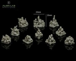 Alien lab Miniatures BK010 Pile of skulls Basing Kit [10szt] 28mm - Stos czaszek