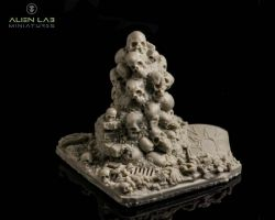 Alien lab Miniatures T012 Pile of Skulls 28mm - Stos czaszek