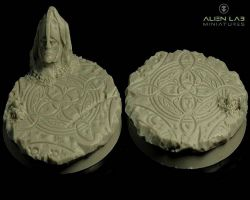 Alien Lab Miniatures SF Elven Round Bases 40mm - Podstawka okrągła